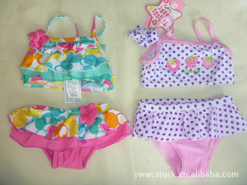 Special Offer Extra-value Europe And America Brand Single Cartoon KID'S Swimwear Girls Split Type Bikini (0-12-Year-Old)