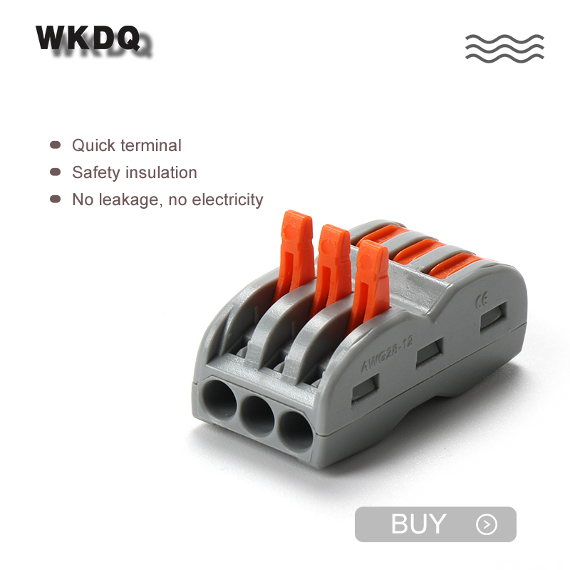 222-423 Push In Connector Compact Wire Wiring Connector Terminal Block  Fast Plastic Terminator Terminal Block Connectors 20pcs