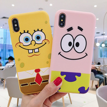 Cartoon SpongeBob Patrick Star Phone Case Cute Soft Cover For iPhone 6 6s 7 8 Plus X XS XR XSMax 11 Pro Max