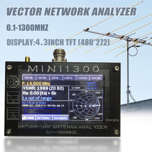 "Image 4 - TZT 2020 ใหม่ Mini1300 HF/VHF/UHF เครื่องวิเคราะห์เสาอากาศ 0.1 1300MHz 4.3 ""TFT LCD หน้าจอสัมผัสเปลือกอลูมิเนียม"