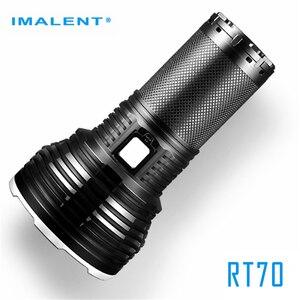 Фонарик IMALENT RT70 CREE XHP70.2, светодиодный, мощный, 5500лм, дальность луча 903 м, водонепроницаемый, USB, магнитный Перезаряжаемый Фонарь 18650