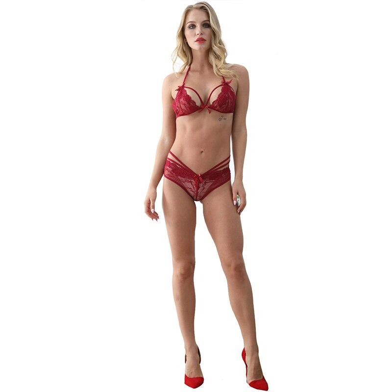 LKlady Bra Set Sexy Underwear Lace Perspective Comfortable Pajamas Slim Female