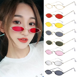 top selling product in 2020 Fashion Mens Womens Retro Small Oval Sunglasses Metal Frame Shades Eyewear Support Wholesale