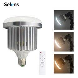 Selens E27 105 Вт светодиодный ная светильник ПА для фотостудии лампа с регулируемой яркостью 3200K ~ 5500K с дистанционным управлением освещение для ф...