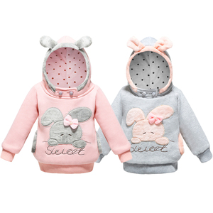 Girls Sweatshirt Hoodies Cartoon Sweat Rabbit Spring Hooded Coats For Girls Full Sleeve Kids Clothes Toddler Girls Sweatshirt