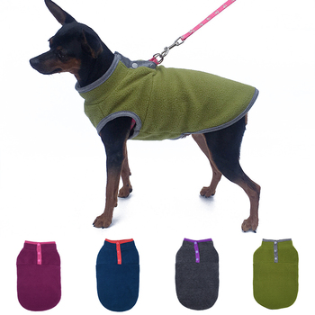 Buckle Fleece Pet Dog Clothes For Small Dogs Jacket Winter French Bulldog Clothing Puppy Dog Coat Warm Cute Pet Outfit Chihuahua image