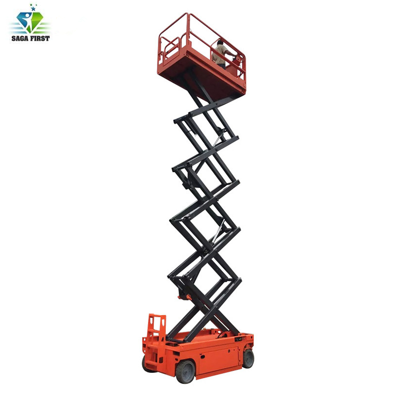 Hydraulic Lifting Table Self Moving Mobile Scissor Lift