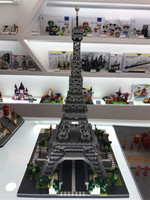 YZ 3D Creative Architecture Bricks Mirco Paris Eiffel Tower blocks Russia Moscow Vasily Cathedral toys For Kids Educational toy