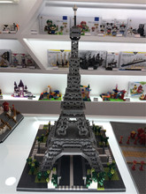 цена на YZ 3D Creative Architecture Bricks Mirco Paris Eiffel Tower blocks Russia Moscow Vasily Cathedral toys For Kids Educational toy