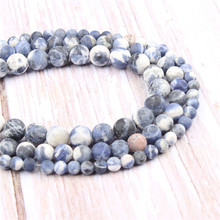 Matte Blue Natural?Stone?Beads?For?Jewelry?Making?Diy?Bracelet?Necklace?6/8/10mm?Wholesale?Strand