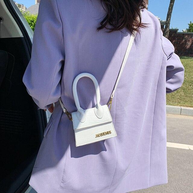 Jacquemus mini bolsas e bolsas femininas 2021 bolsa crossbody famosa marca de ombro saco de mão designer luxo crocodilo padrão 2