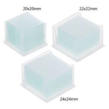 100 sztuk przezroczyste kwadratowe szklane slajdy Coverslips Coverslides dla mikroskopu urządzenie optyczne tanie i dobre opinie OOTDTY CN (pochodzenie) Cover slips