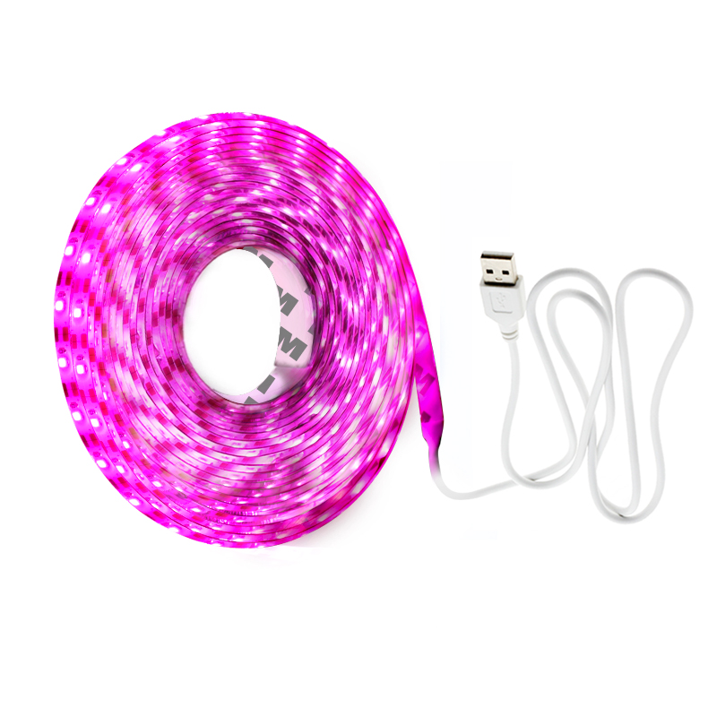 LED Grow Light Full Spectrum USB LED Strip Lights 1m 2m 3m 2835 Chip LED Phyto Lamps For Greenhouse Hydroponic Plant Growing