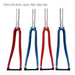Garfo de bicicleta meia fibra de carbono, garfo dianteiro 28.6mm para bicicleta