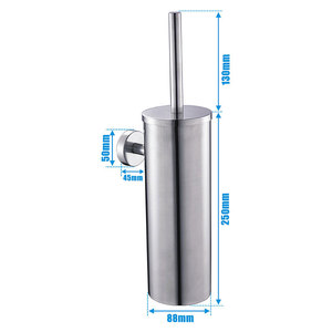 Image 5 - Toilet Brush SUS304 Stainless Steel Wall Mount for Bathroom Storage Modern Style Brushed Finished