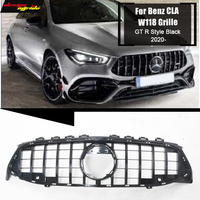 For Mercedes W118 Sports Front Grill Grille GT Style ABS Black CLA Class CLA200 CLA180 CLA250 CLA45 Direct 1:1 Replacement 2020+
