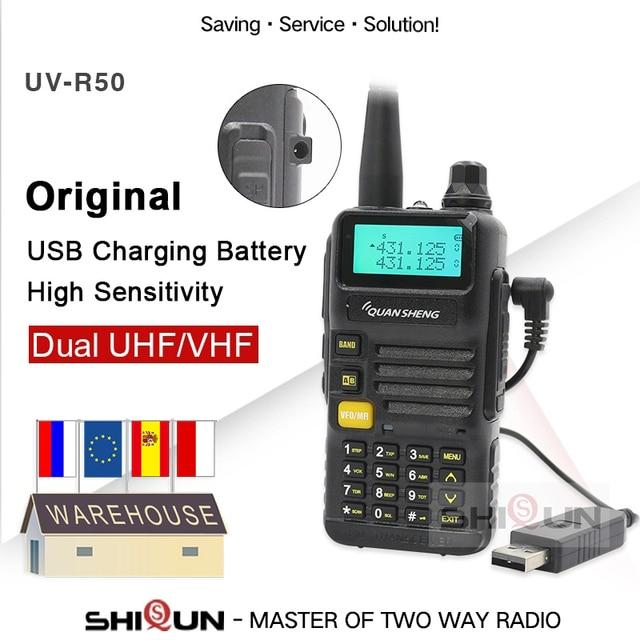 Usb 充電器バッテリーバージョン quansheng UV R50 2 トランシーバー vhf uhf デュアルバンドラジオ UV R50 1 uv R50 シリーズ Uv 5r tg uv2 UVR50