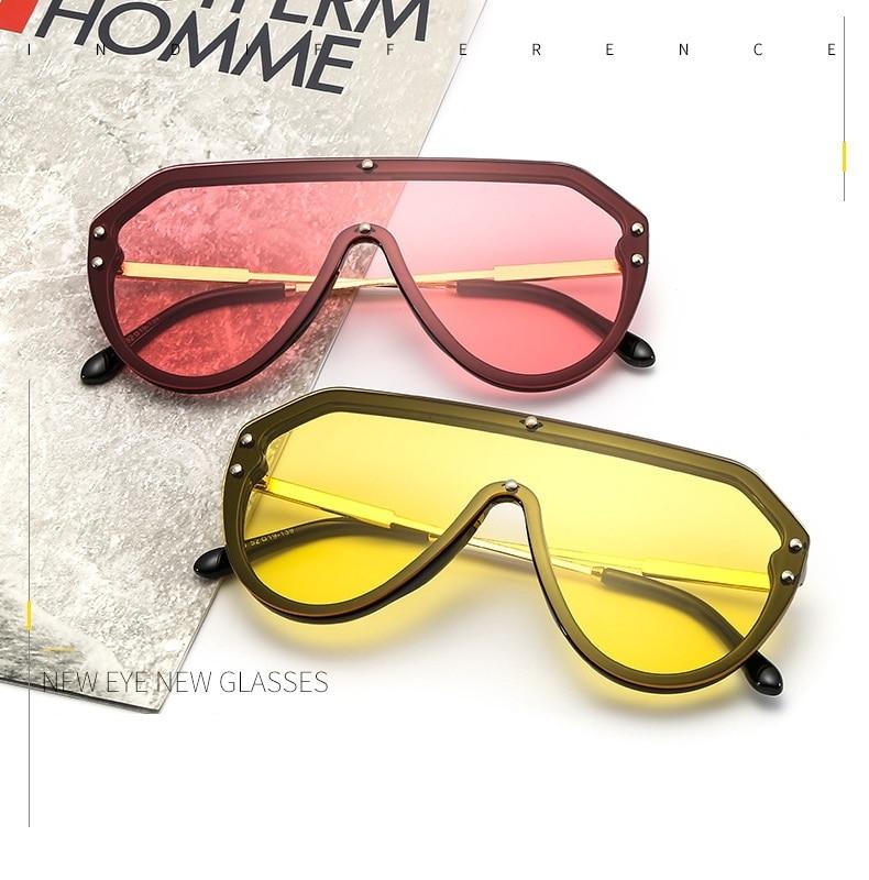 Fashion Oversized One Piece Sunglasses Women CLOVER JEWELLERY