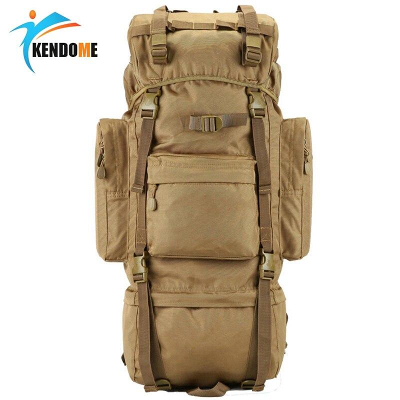Heißer 70L Große Kapazität Outdoor-Sport Tasche Militärische Taktische Rucksack Wandern Camping Wasserdicht tragen-wider Nylon Rucksack