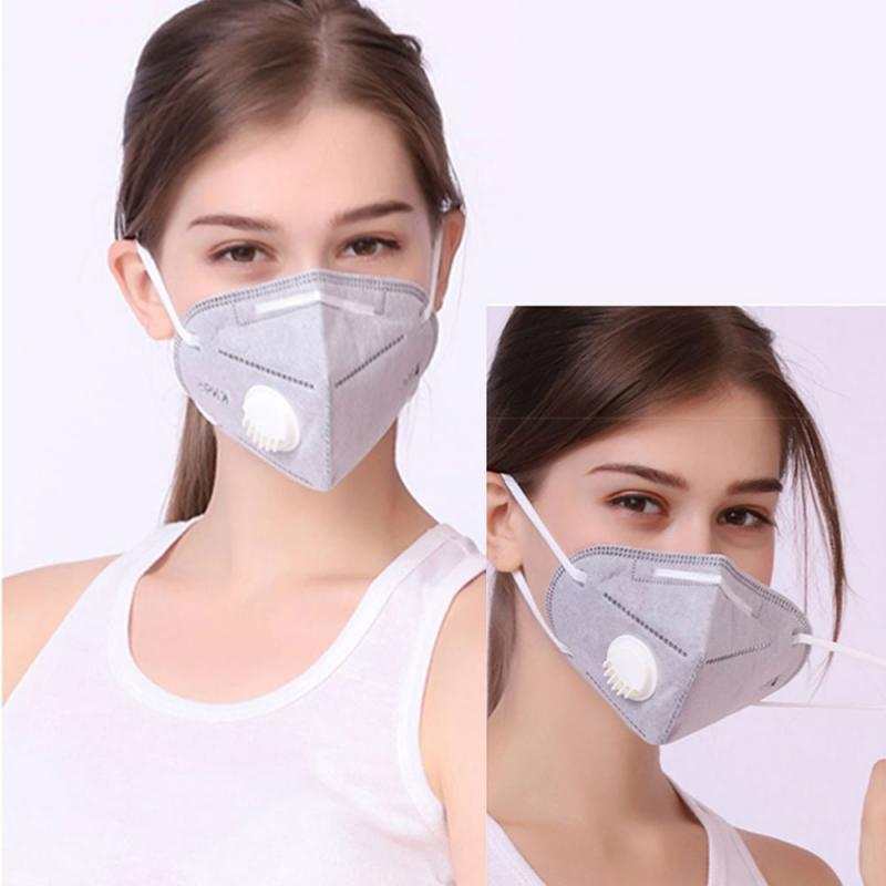 1 Pcs Reusable KN95 Mask Valved Face Mask N95 Protection Face Mask Grey White Anti-fog Dustproof Mask PM2.5 Mouth Mask Dropship