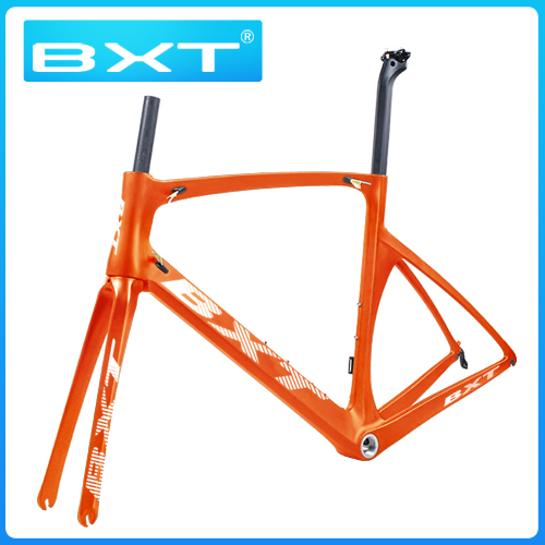 Bicycle Frame Carbon-Road-Frame BSA Racing 700C 130mm Gloss Hubs Wheels Customized Matte