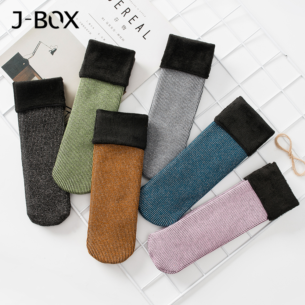ALI shop ...  ... 4000059173561 ... 3 ... 1 5 Pairs Winter Warm Women Short Socks Thick Thermal Wool Snow Socks Unisex harajuku Seamless Velvet Boots Floor Sleeping Sox ...