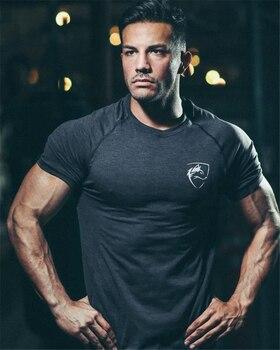 2020 Summer Gym Shirt Sport T Shirt Men Quick Drying Running Shirt Men Workout Training Tees Fitness Tops Rashgard T-shirt