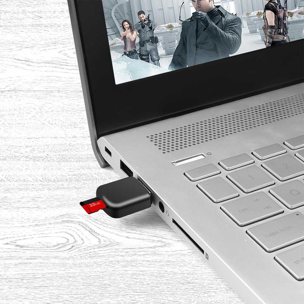 Colorido USB 2,0 Micro SD Flash TF lector de tarjetas de memoria para ordenador portátil Windows XP 7 Vista 2000 portátil nuevo
