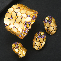 GODKI 2020 New Charms 3PC Bracelet Ring Earring Set For Women Wedding Bridal Cubic Zircon Dubai PARTY WEDDING Jewelry BOHO 2020