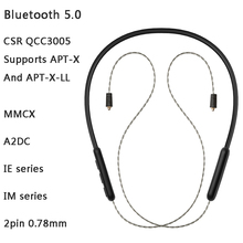 QCC3005 Apt-x ll/Aptx Wireless Bluetooth 5.0 earphone Cable Mmcx 0.78 A2DC IE80 Replaceable Cable For Shure TFZ KZ BGVP SIMGOT bgvp m1 apt x bluetooth v4 2 cable for mmcx earphones hifi 8 core occ silver plated cable with microphone for shure for ue