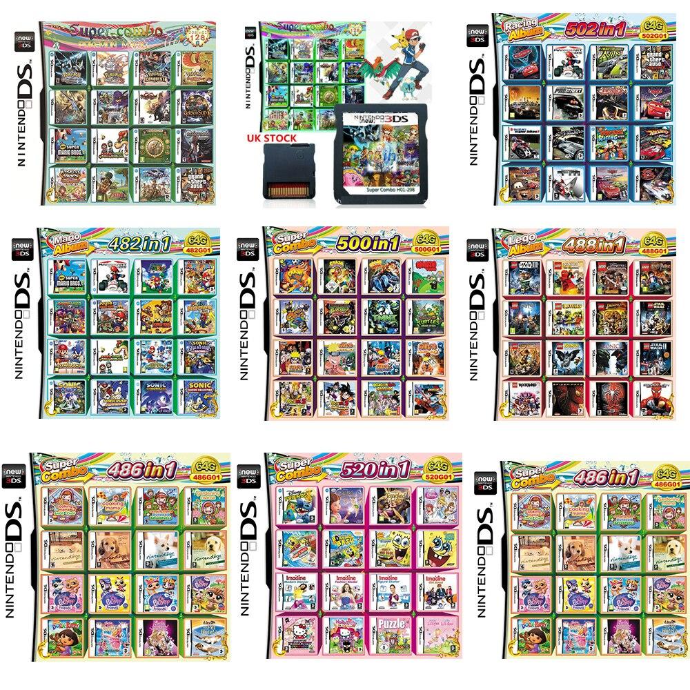 Ds 3ds ndsi dsi nds ndsl nova lite cartão de jogo ds cartão de jogo 280 coleção pokemon ouro versão colorida inglês idioma
