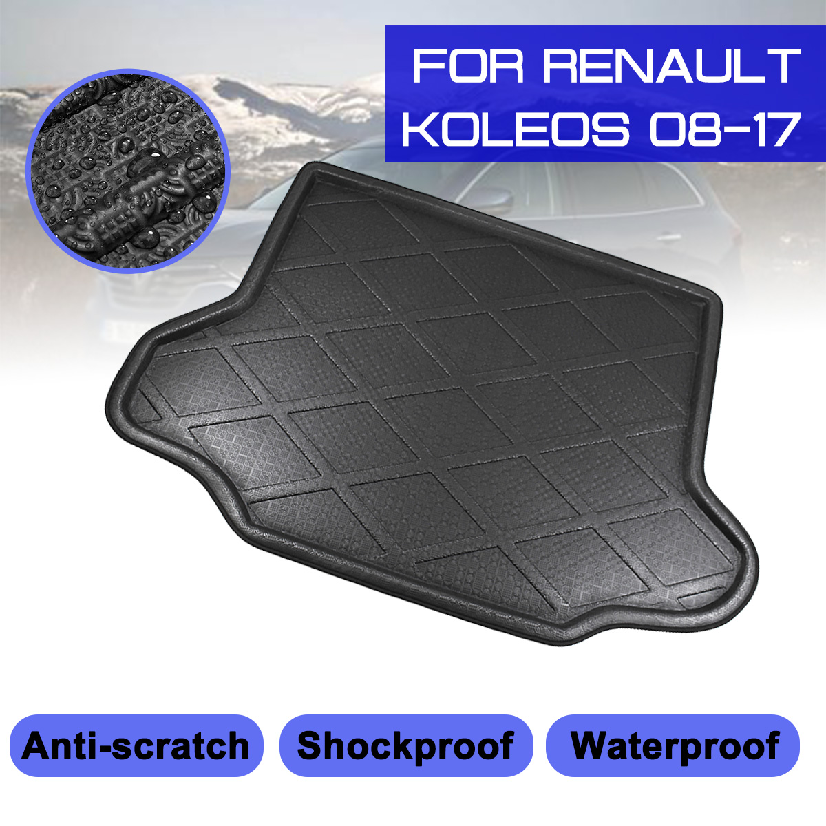 TAILORED PVC BOOT LINER MAT TRAY Renault Koleos since 2008