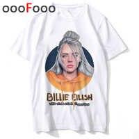 New Billie Eilish Bad Guy Funny Cartoon T Shirt Men O-neck Fashion T-shirt Casual Grunge Aesthetic Tshirt Hip Hop Top Tees Male
