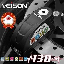 Veison Scooter Blocca Disco Allarme Impermeabile Serrature per la Bici Anti theft di Sicurezza Del Motociclo Freno Lucchetto Honda Yamaha Suzuki Kawasaki