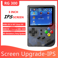 ANBERNIC New 3INCH IPS Screen Retro Game 300 Tony System Video Game RG300 16G+32G PS1 64Bit Portable Handheld Game Player RG 300
