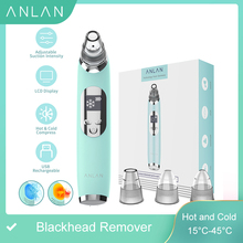 Blackhead Remover Hot Cold Facial Cleaner Deep Pore Acne Pimple Removal Vacuum Suction Diamond Beauty Tool Face SPA Skin Care electric facial blackhead remover skin care face deep pore acne pimple removal vacuum suction facial diamond facial beauty tool