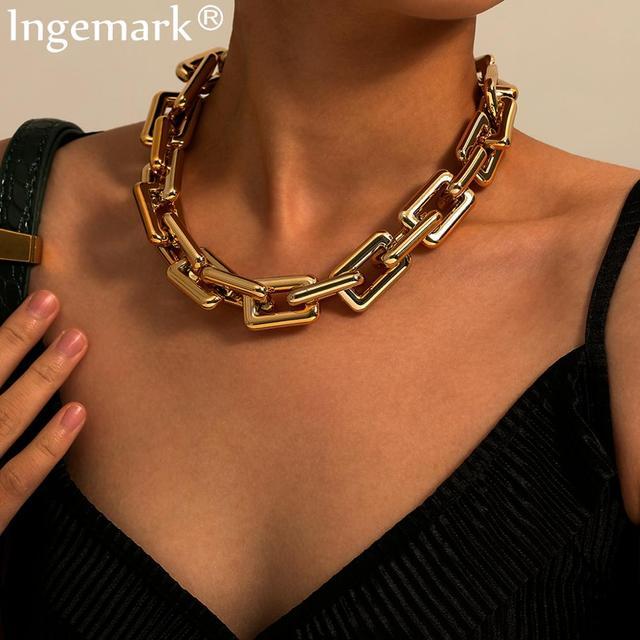 Fantastic statement necklace, chain link 1