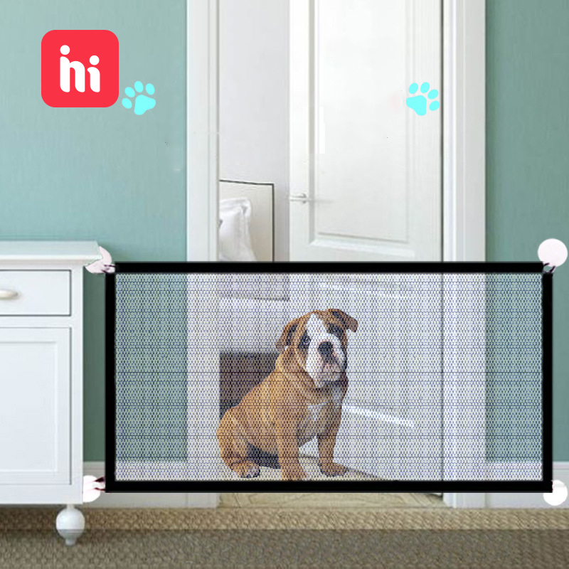 Baby Fence Kids Safety Gate Dog Gate Folding Portable Safe Guard Children Isolation Net Safe Guard Protect For Pets Doorway Gate