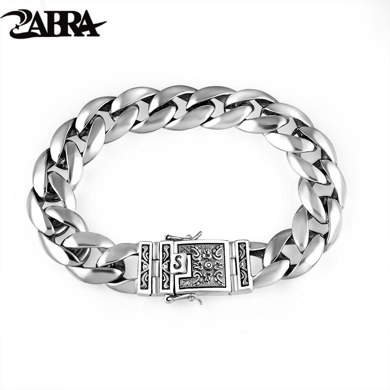 ZABRA Real 925 Silver Men's...