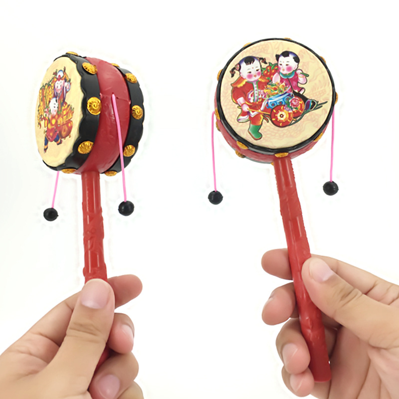 Baby Infants Hand-cranking Toy Auspicious Traditional Rattle 0-1-Year-Old Traditional Educational Newborns Toy