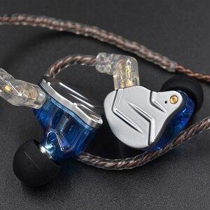 Image 5 - KZ ZSN Pro In Ear Earphones 1BA+1DD Hybrid Technology Hifi Bass Metal Earbuds Headphones Sport Noise Bluetooth Cable For ZSN Pro