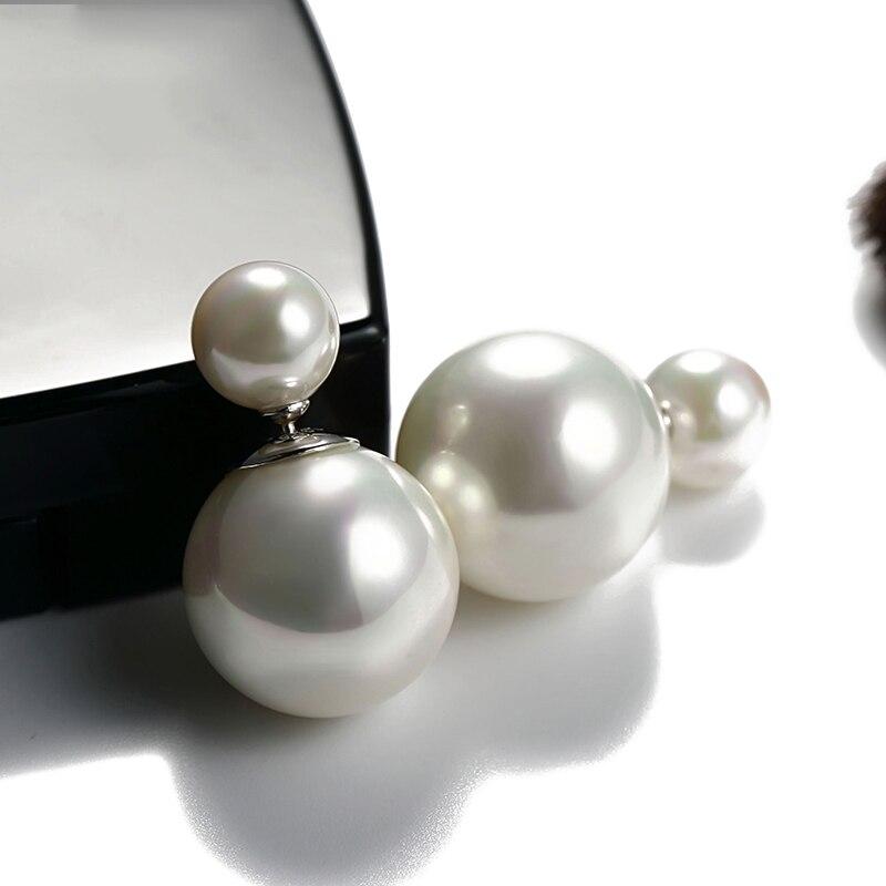 2021 New Fashion paragrafo orecchini di vendita caldi doppio lato brillante perla orecchini grandi orecchini di perle per le donne