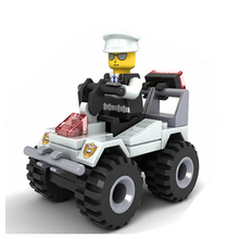 Bricks Toys Figures Building-Block Patrol Car-Submarine Plane Police Fire-Fighting-Truck