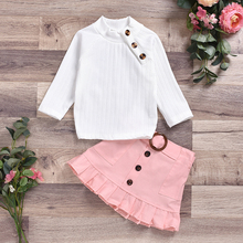 toddler baby girl kid outfit set tops t shirt tank floral skirt beach dress 1 5y Fall Autumn Winter 1-6Years Toddler Kid Baby Girl Clothes Tops T Shirt Sweatshirts Pants Skirt Outfit Sweet Set
