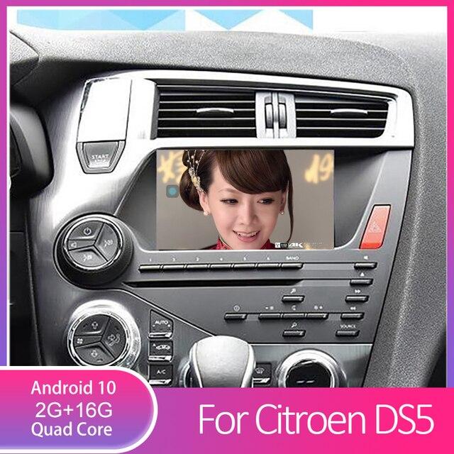 Lecteur DVD pour citroën DS5, avec Radio, GPS, miroir, lien bluetooth, vidéo arrière, wi fi, DVR et OBD, quad Core