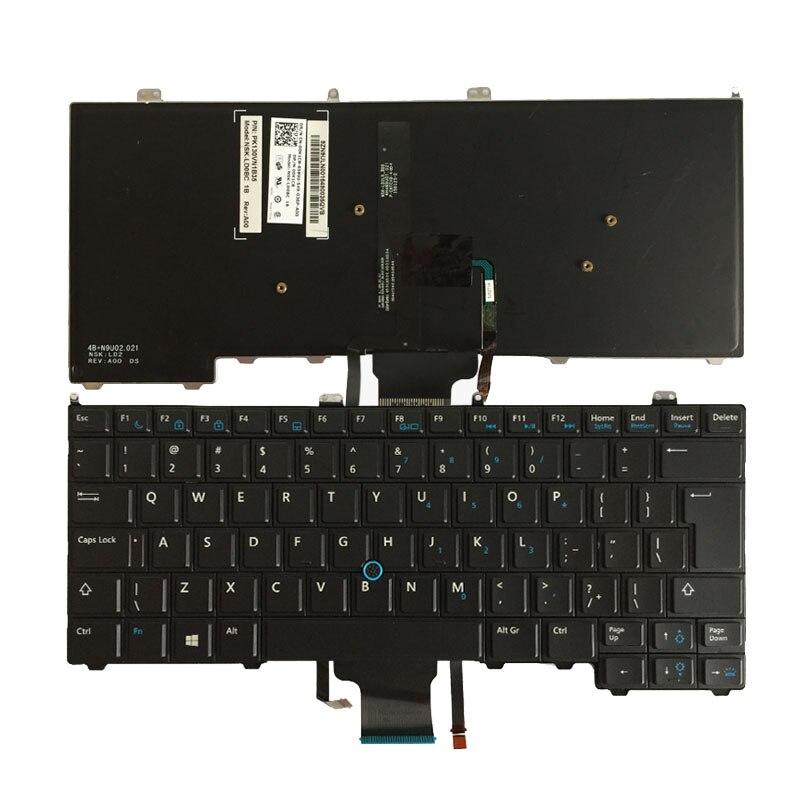 NEW For DELL Latitude E7440 Laptop Keyboard UI Mouse Pointer Backlit 00K1C8 V141025AR1