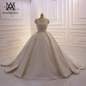 Image 1 - Abito דה sposa שווי שרוול קריסטל פנינים מבריקה טורקיה חתונה שמלת 2020