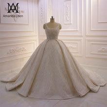 abito da sposa Cap Sleeve Crystal Pearls Shiny Turkey Wedding Dress 2020