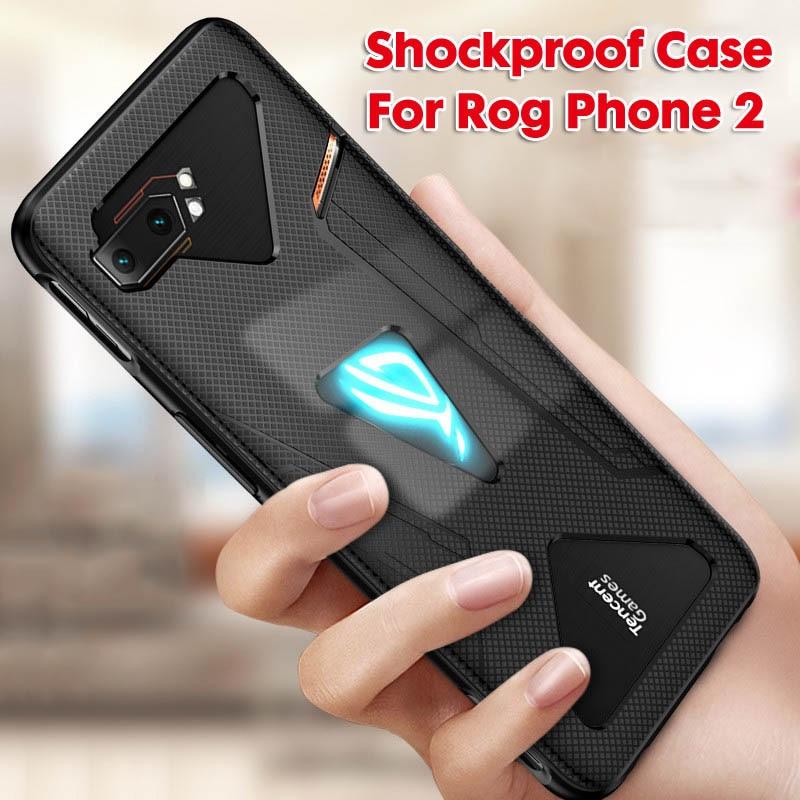 2 в 1 закаленное стекло для Asus ROG Phone II ZS660KL чехол ультра тонкий противоударный чехол для телефона Asus ROG Phone 2 Phone2 чехол