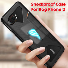 2 In 1Tempered Glass For Asus ROG Phone II ZS660KL Case Ultra Slim Shockproof  Phone2 Cover